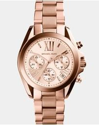 Michael Kors - Mini Bradshaw Rose Gold-Tone Chronograph Watch