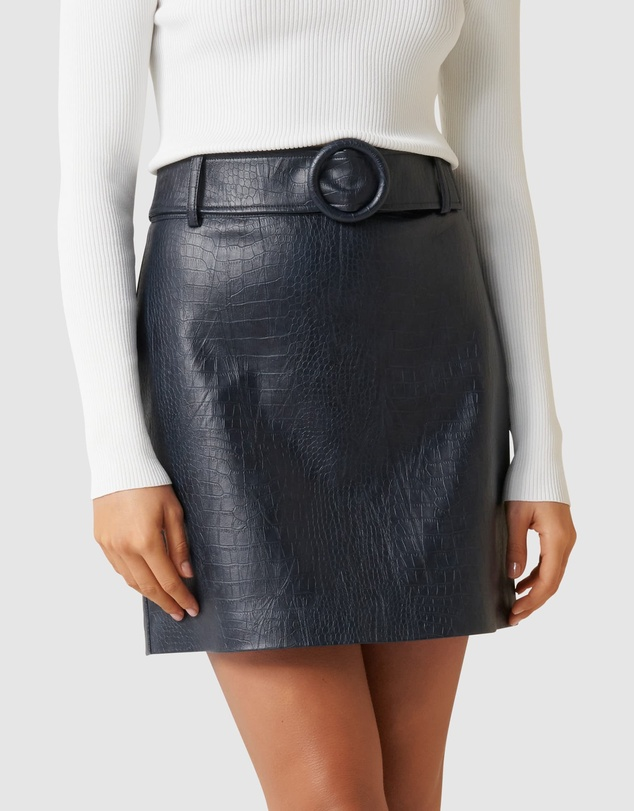 Forever New - Hallie Embossed PU Mini Skirt