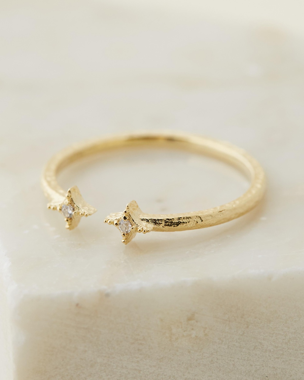 By Charlotte Wish Ring Jewellery Gold Plated Sterling Silver