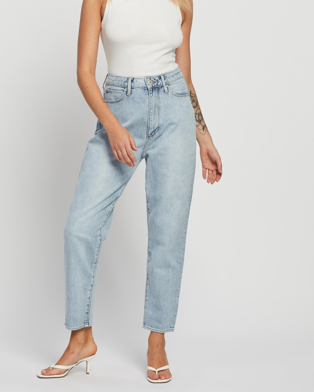 Articles of Society Charlotte Mom Jeans High-Waisted Vintage Light Blue Australia