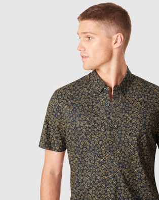 French Connection Ditsy Floral Regular Fit Shirt - Shirts & Polos (MARINE BLUE)
