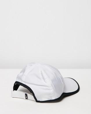 Nike Featherlight Cap   Youth - Headwear (White & Black)