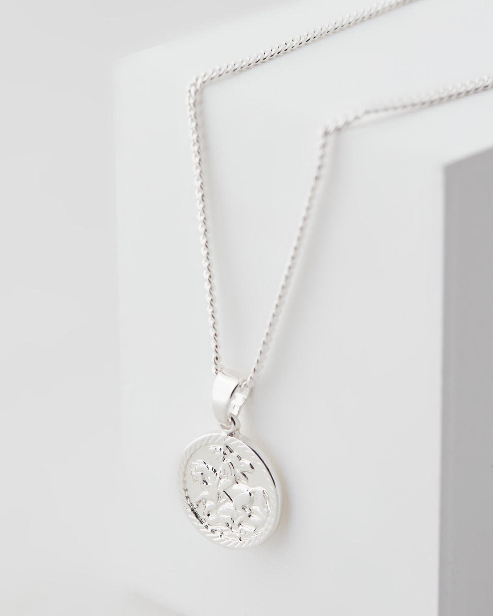 Chained & Able Mini Sovereign Medallion Jewellery Silver