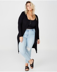 Cotton On - Curve Quinnie Buttoned Longline Cardigan