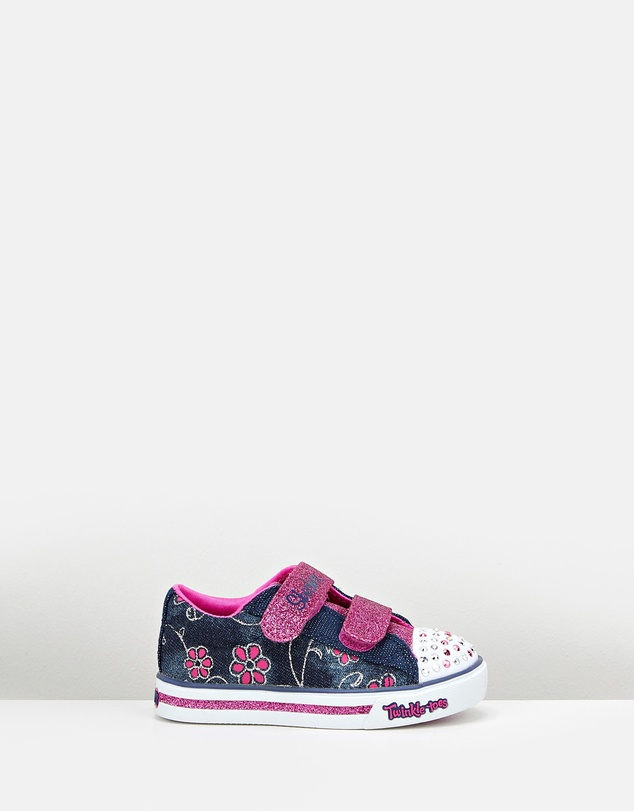 fc5a2c79608f Twinkle Toes Sparkle Glitz Denim Infant by Skechers Online