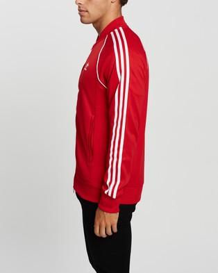 adidas Originals Adicolor Classics Primeblue SST Track Jacket - Coats & Jackets (Scarlet & White)