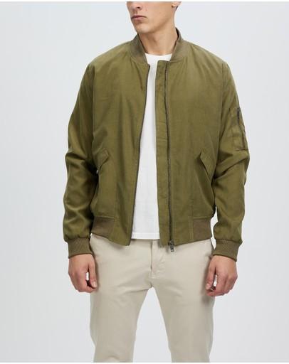 Staple Superior Wellington Bomber Jacket Khaki