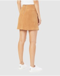 French Connection - Genuine Suede Skirt