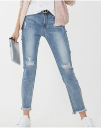 Decjuba Kids - Ella Distressed Jeans - Kids-Teens