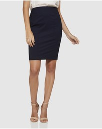 Oxford - Monroe Wool Stretch Suit Skirt