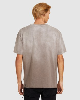 Ksubi Flint Biggie T Shirt - Short Sleeve T-Shirts (GREY)