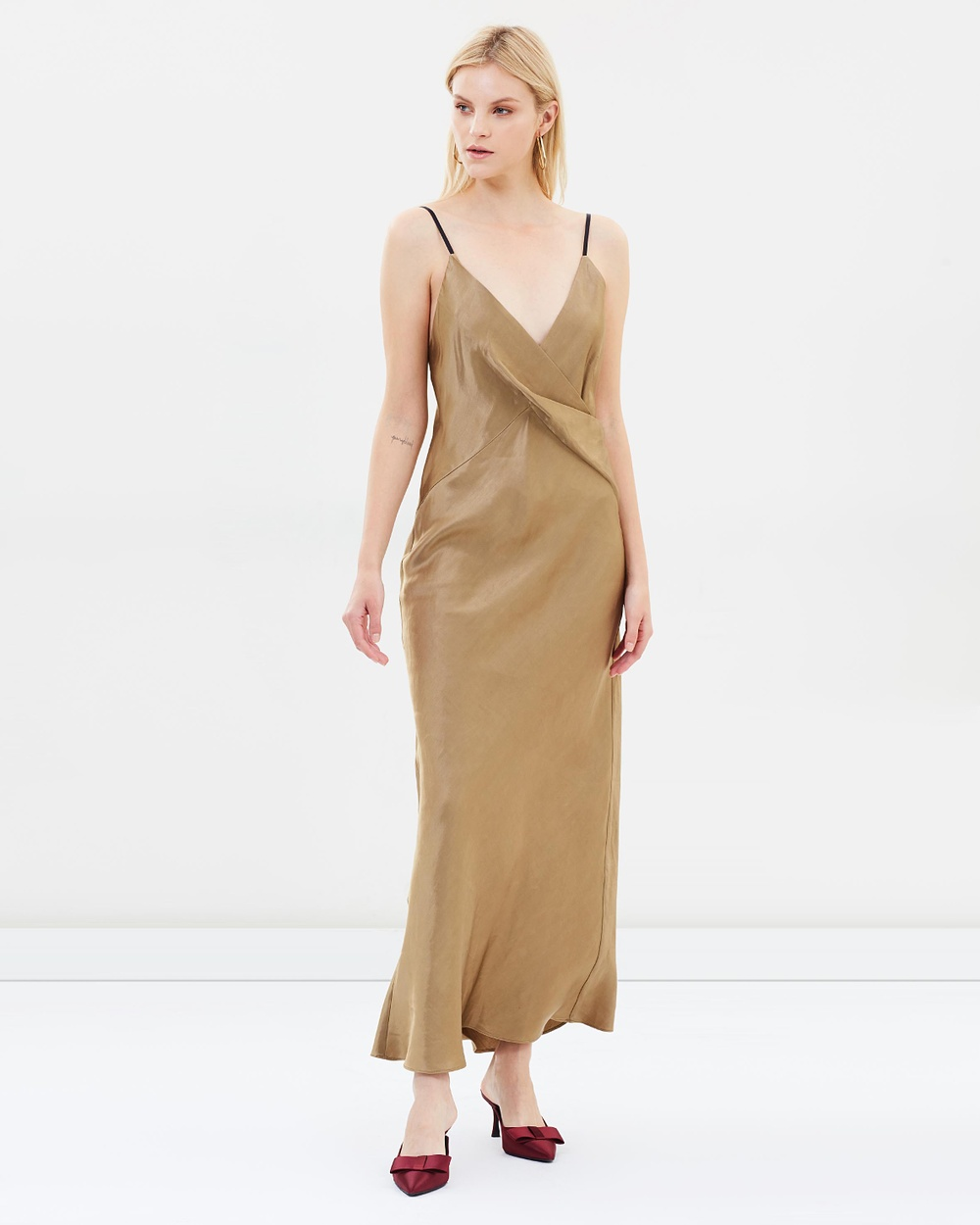 Christopher Esber Twisted Cami Dress Dresses Toffee Twisted Cami Dress