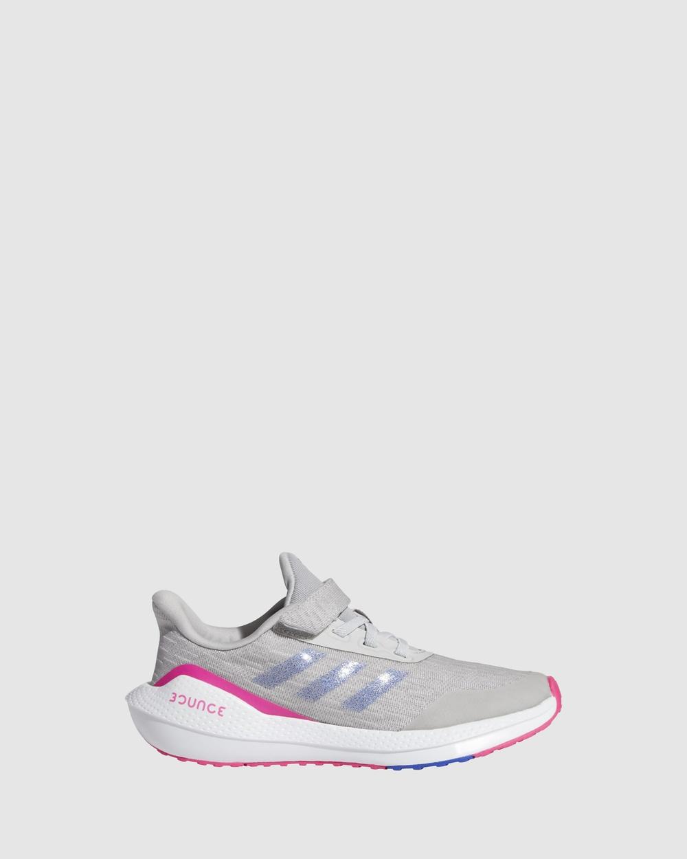 adidas Performance EQ21 Run K Pre School Lifestyle Shoes Grey/Shock Pink Pre-School
