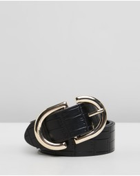 TOPSHOP - Crocodile Logo Belt
