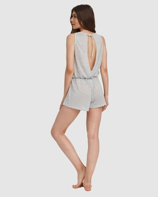 Oh!Zuza Open Back Playsuit - Sleepwear (Grey)