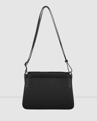 Saben Goldie Cross body Leather Handbag - Satchels (Black)