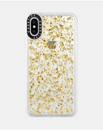 Casetify - 24K Magic for iPhone XS/ iPhone X - Yellow Gold with 24K Gold