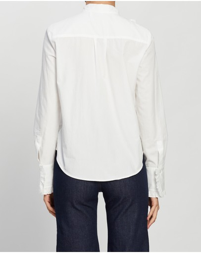See By Chloé Embroidered Pussy-bow Shirt Confident White