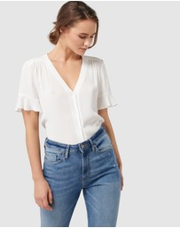 Forever New - Spencer Flutter Sleeve Top