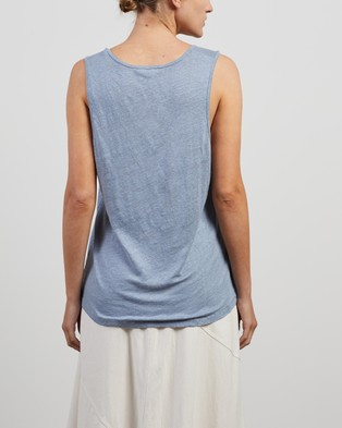 American Vintage U Collar Vest - T-Shirts & Singlets (Ice)