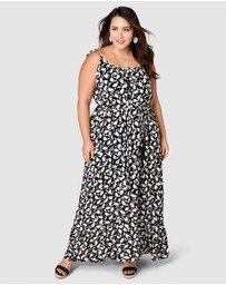 Something 4 Olivia - Fae Printed Maxi Dress