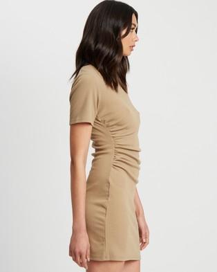 Calli - Anah Mini Dress - Bodycon Dresses (Sand) Anah Mini Dress