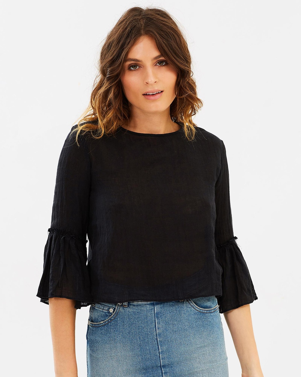 Museum Cabo Top Cropped tops Black Cabo Top