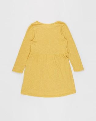 Cotton On Kids - Freya Long Sleeve Dress   Kids Teens - Dresses (Honey Gold Texture) Freya Long Sleeve Dress - Kids-Teens