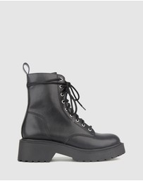 Betts - Hardcore Chunky Lace Up Boots
