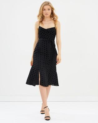 Keepsake the Label – Exhale Midi Dress Black