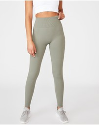 Cotton On Body Active - Lifestyle Rib Seamless Tights