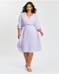 Boohoo - Ruffle Detail Pleated Midi Dress