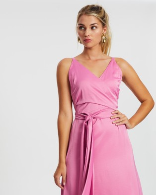 Esther Luxe Poppy Dress - Dresses (Pink)