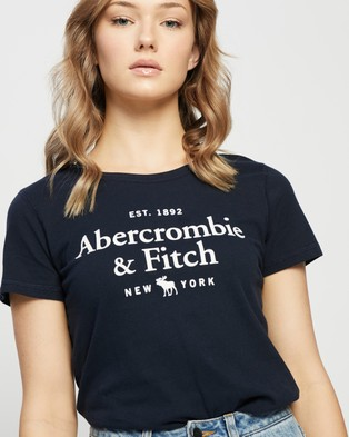 Abercrombie & Fitch Short Sleeve Moose Logo Tee - T-Shirts & Singlets (Sky Captain Navy)