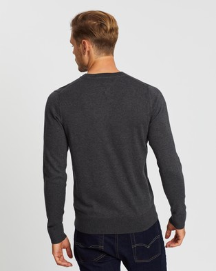 Tommy Hilfiger Core Cotton Silk Crew Neck Knit - Jumpers & Cardigans (Charcoal Heather)