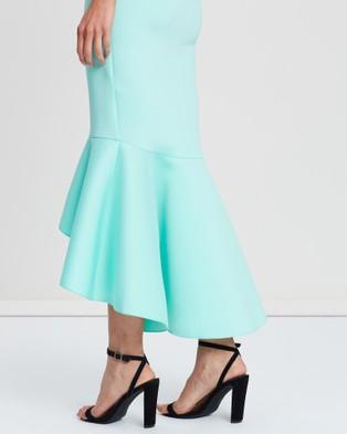 Loreta Avenue Scuba Dress - Bridesmaid Dresses (Soft Turquoise)