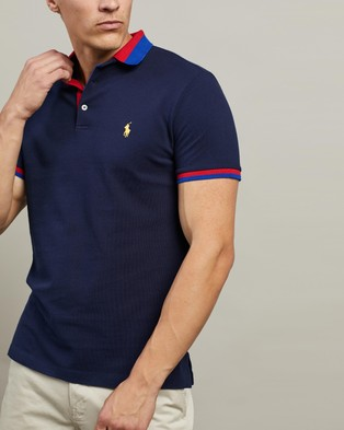Polo Ralph Lauren ICONIC EXCLUSIVE   Short Sleeve Knit Polo - Shirts & Polos (Cruise Navy)