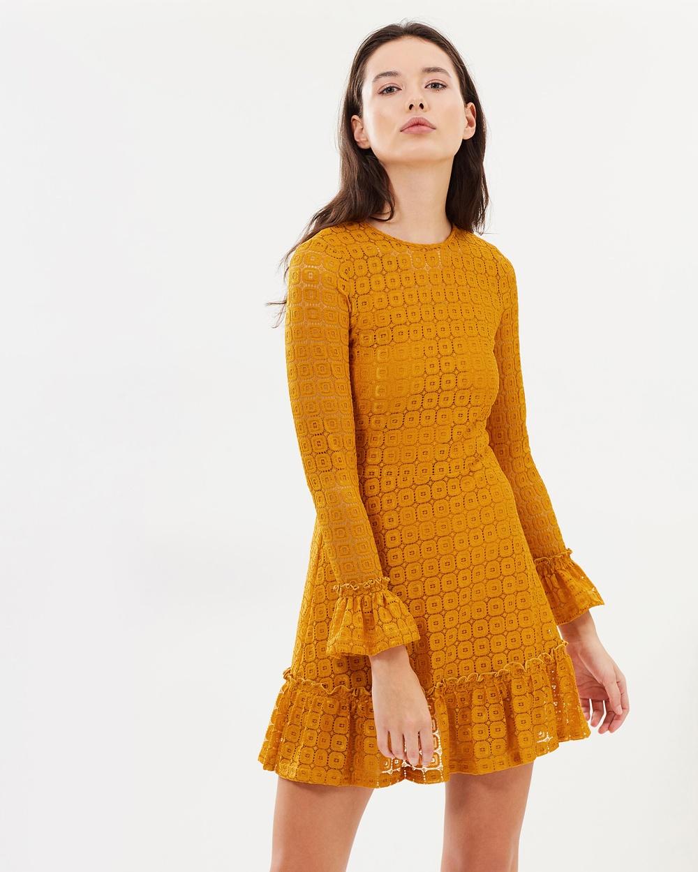 The Fifth Label Mustard Symbols LS Dress
