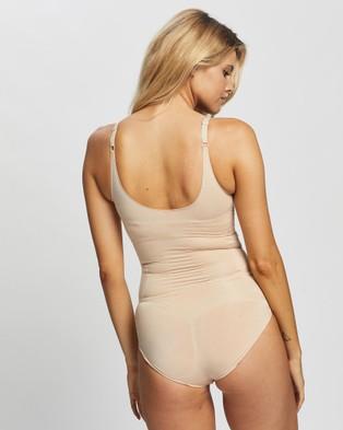 Spanx OnCore Open Bust Panty Bodysuit - Lingerie (Soft Nude)