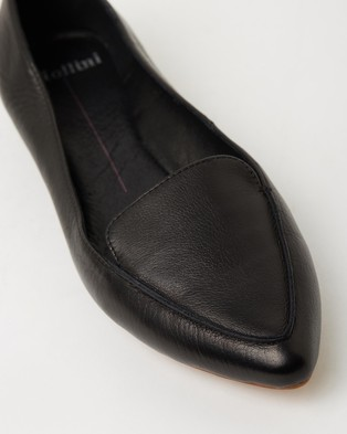 Mollini Gyro Leather Flats - Flats (Black Leather)