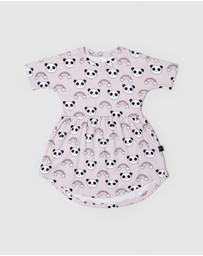 Huxbaby - Rainbow Panda Swirl Dress - Kids