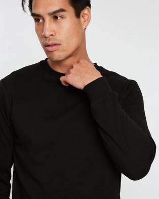 ASICS Ft Op Long Sleeved Crew   Men's - Shirts & Polos (Performance Black)
