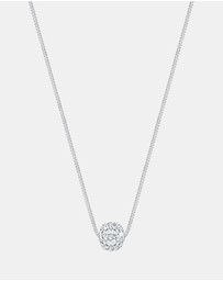 Elli Jewelry - Necklace 925 Sterling Silver Ball Swarovski Crystal