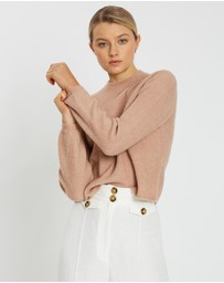 Banana Republic - Cropped Ribbed Puff Sleeve Jumper