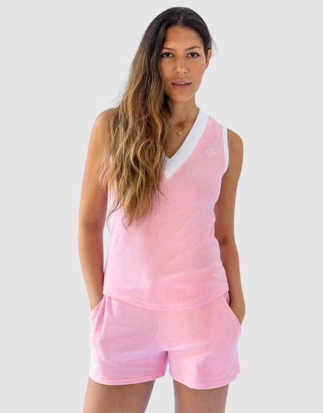 Women Andy Cohen Pink Terry Vest