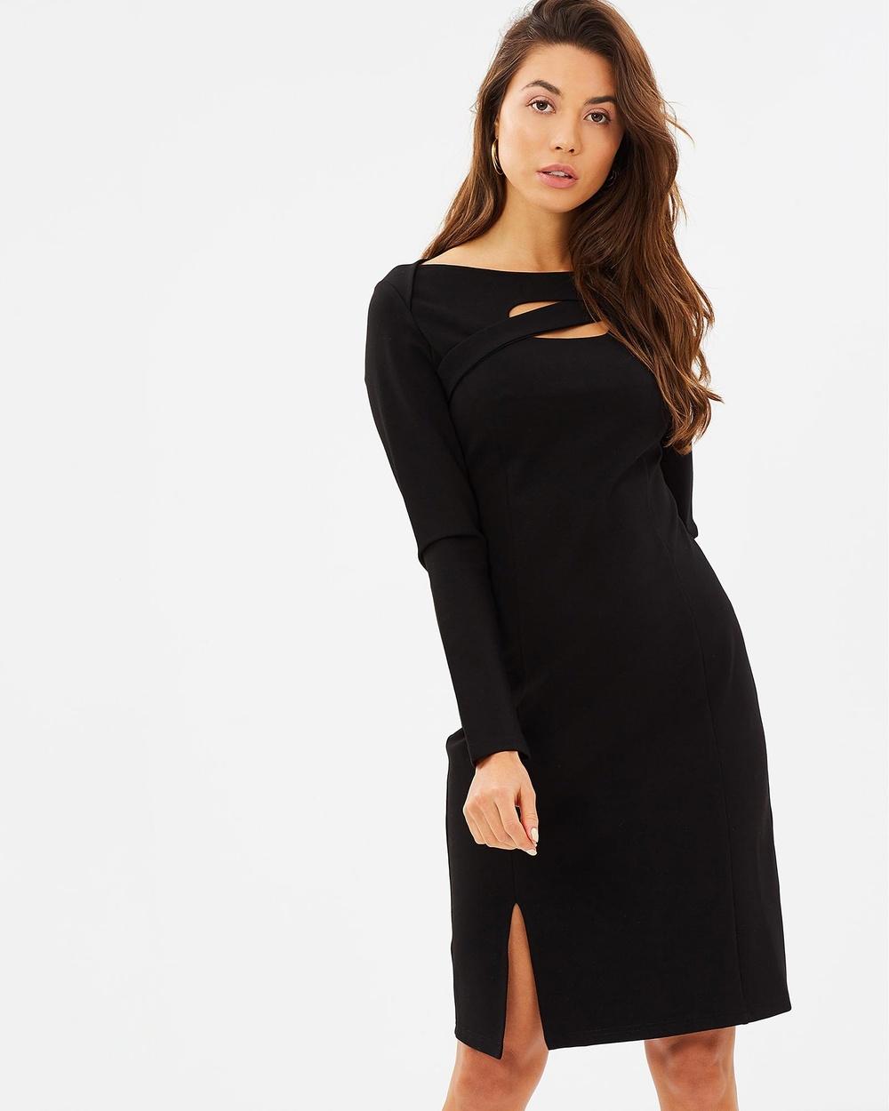 Privilege Cosmopolitan Cutout Dress Dresses Black Cosmopolitan Cutout Dress