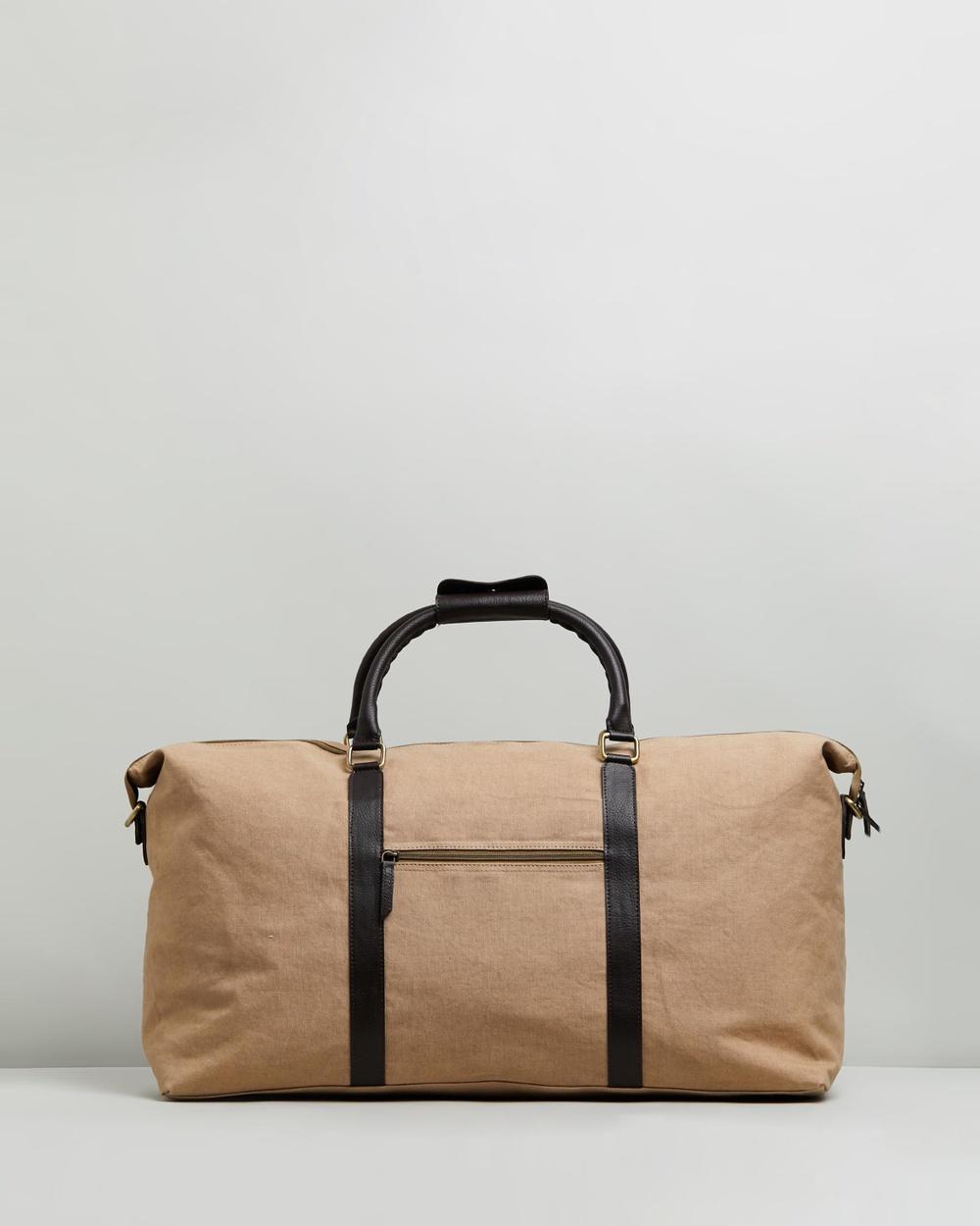 Staple Superior Downtown Weekender Duffle Bags Sand & Brown