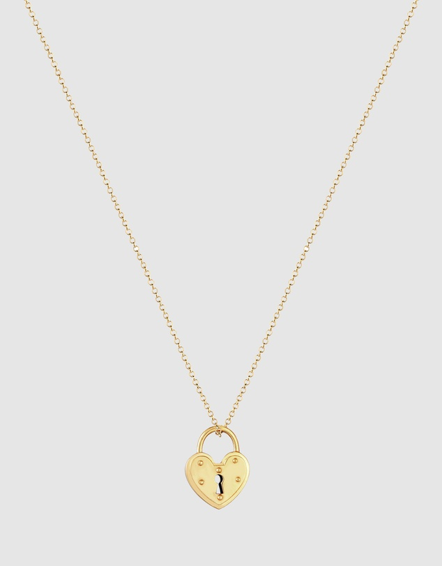 Women Necklace Castle Heart Pendant Endless Love in 925 Sterling Silver Gold Plated