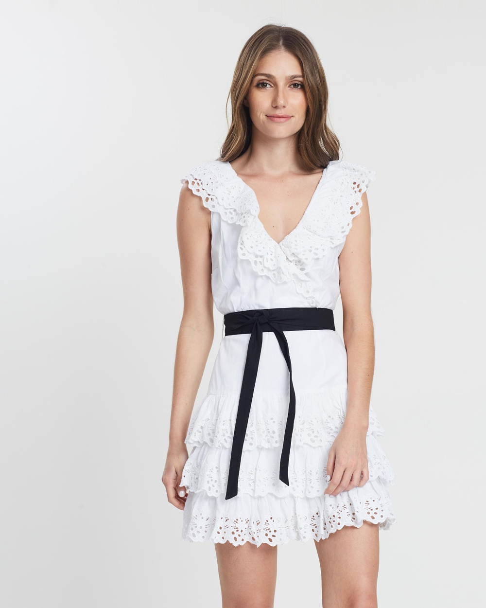 MLM Label Broderie Anglaise White Peony Dress