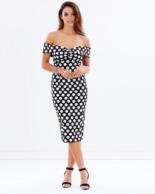 Pasduchas – Vice Shoulder Midi Dress – Dresses (Black & White)